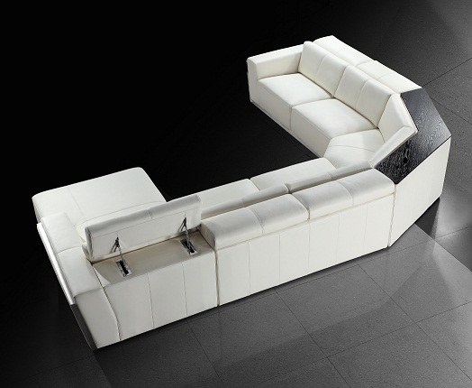 Tempo Leather Sectional Sofa