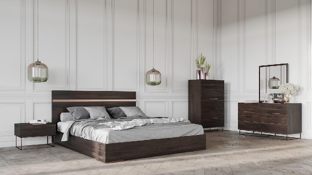Dark Rovere Bedroom Set