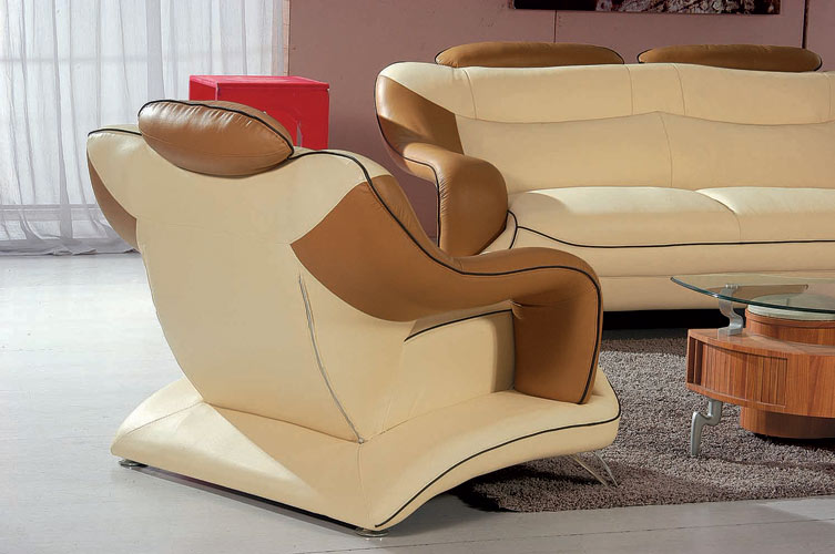 Divani Casa 7055 Modern Bonded Leather Sofa Set in Multi-Toned - VIG Furniture VGBN7055-CAM