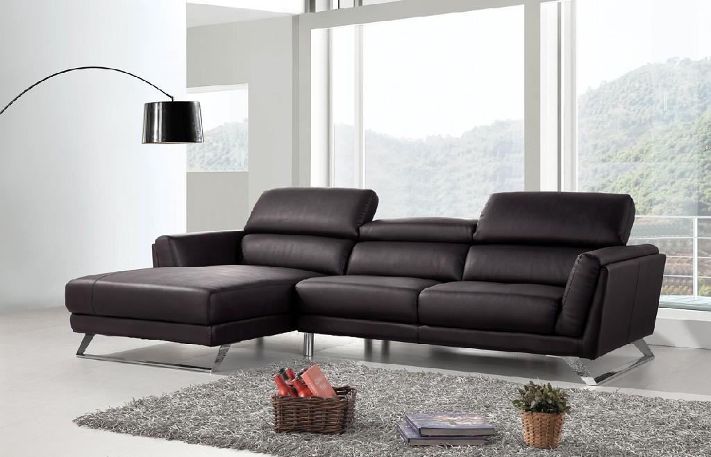 Divani Casa Doss Modern Black Eco-Leather Sectional Sofa - VIG Furniture VGBNSBL-9214-BLK