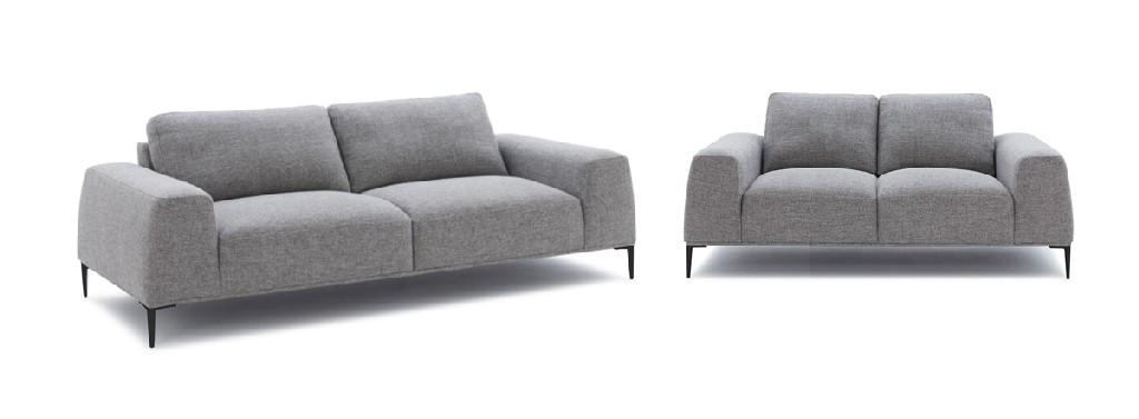 Divani Casa Arthur Modern Grey Fabric Sofa & Loveseat Set - VIG Furniture VGCF550-SET