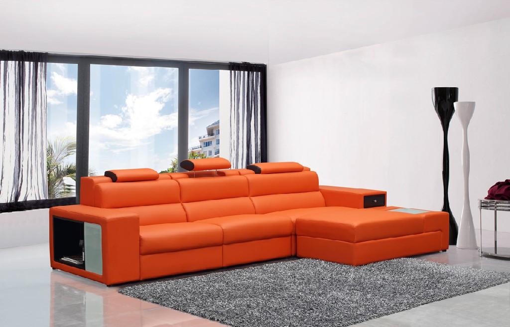 Vig Mini Sectional Leather Sofa