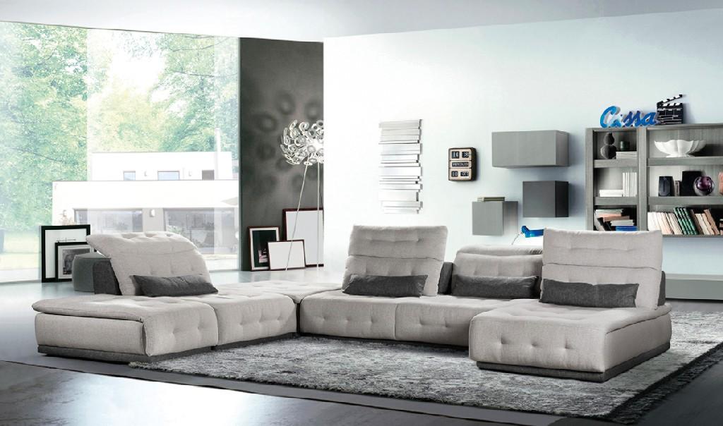 Daiquiri Light Dark Fabric Modular Sectional Sofa