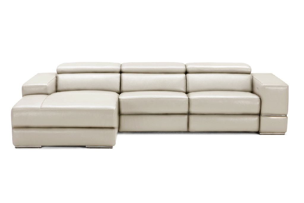 Light Leather Sectional Sofa Recliners