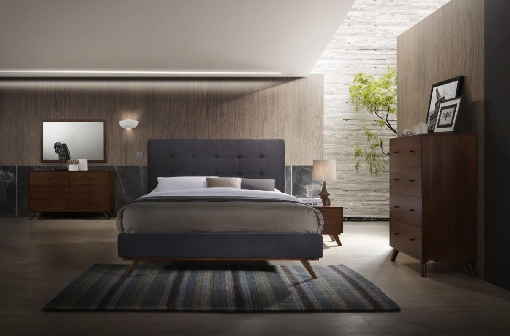 Vig Furniture Walnut Bedroom Set Photo