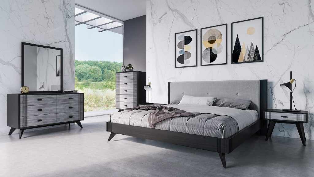 Panther Black Bedroom Set