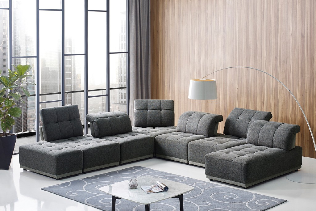Ekron Fabric Modular Sectional Sofa