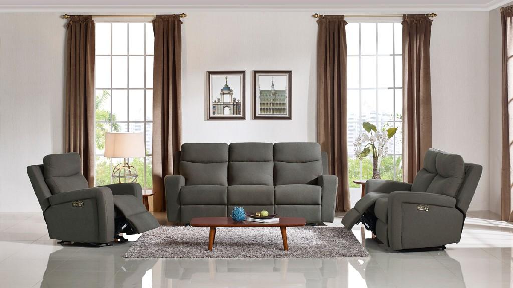 Shaw Fabric Sofa Set Recliners