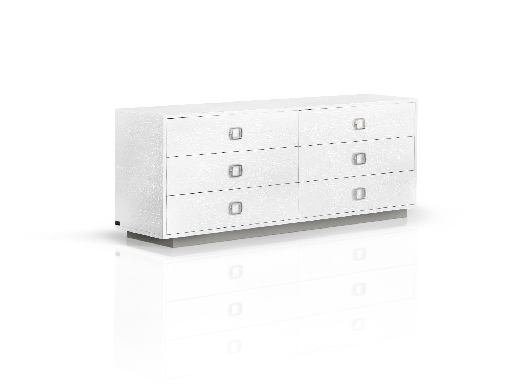 A&X Victoria Modern White Crocodile Dresser - VIG Furniture VGUNAW421-159-CROC