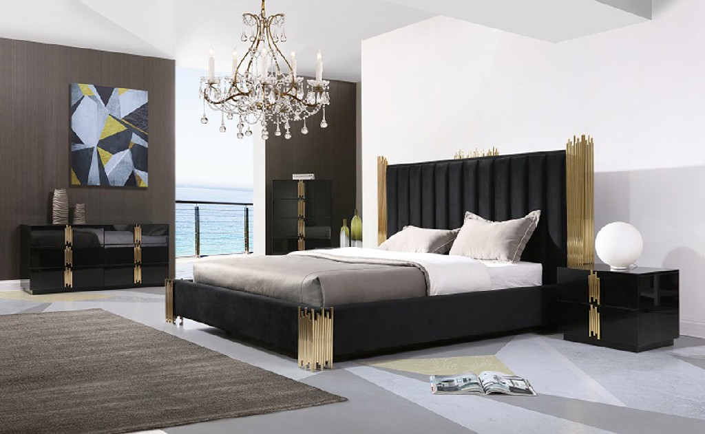 Black Gold Bedroom Set