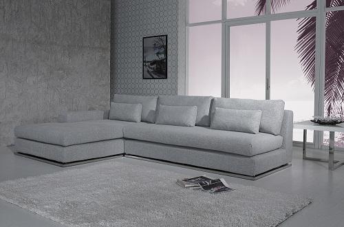 Divani Casa Ashfield Modern Fabric Sectional Sofa in Grey - VIG Furniture VGYIC08B