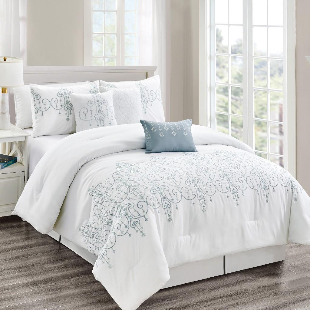 Geron 7 Piece Comforter Set Queen Size - Elight Home 21776Q