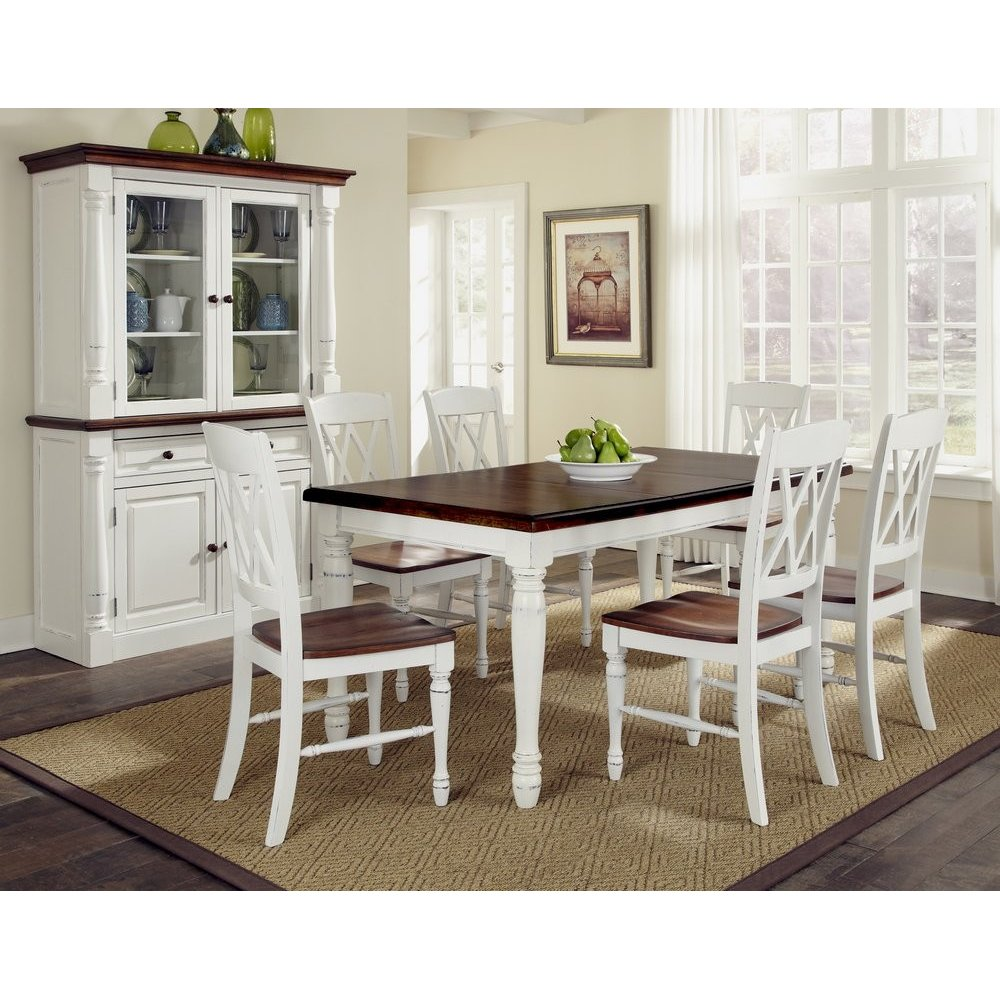 Homestyles Dining Table Rectangular Double Back Chairs