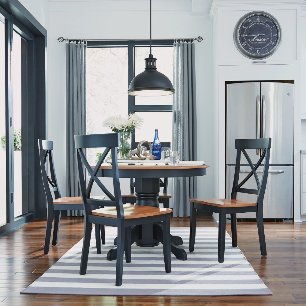 Dining Set Black Oak