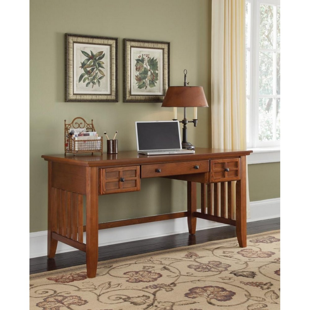 Arts and Crafts Cottage Oak Executive Desk - Homestyles Furniture 5180-15