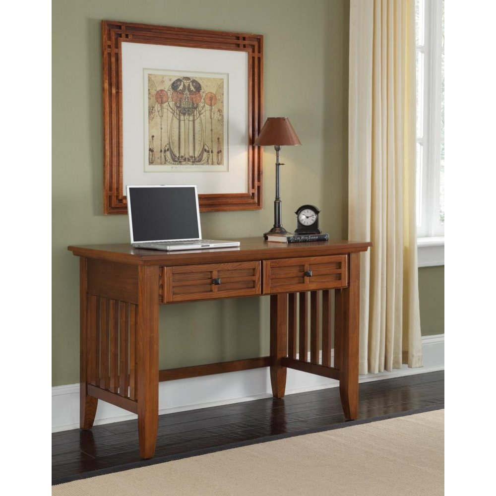 Arts and Crafts Cottage Oak Student Desk - Homestyles Furniture 5180-16