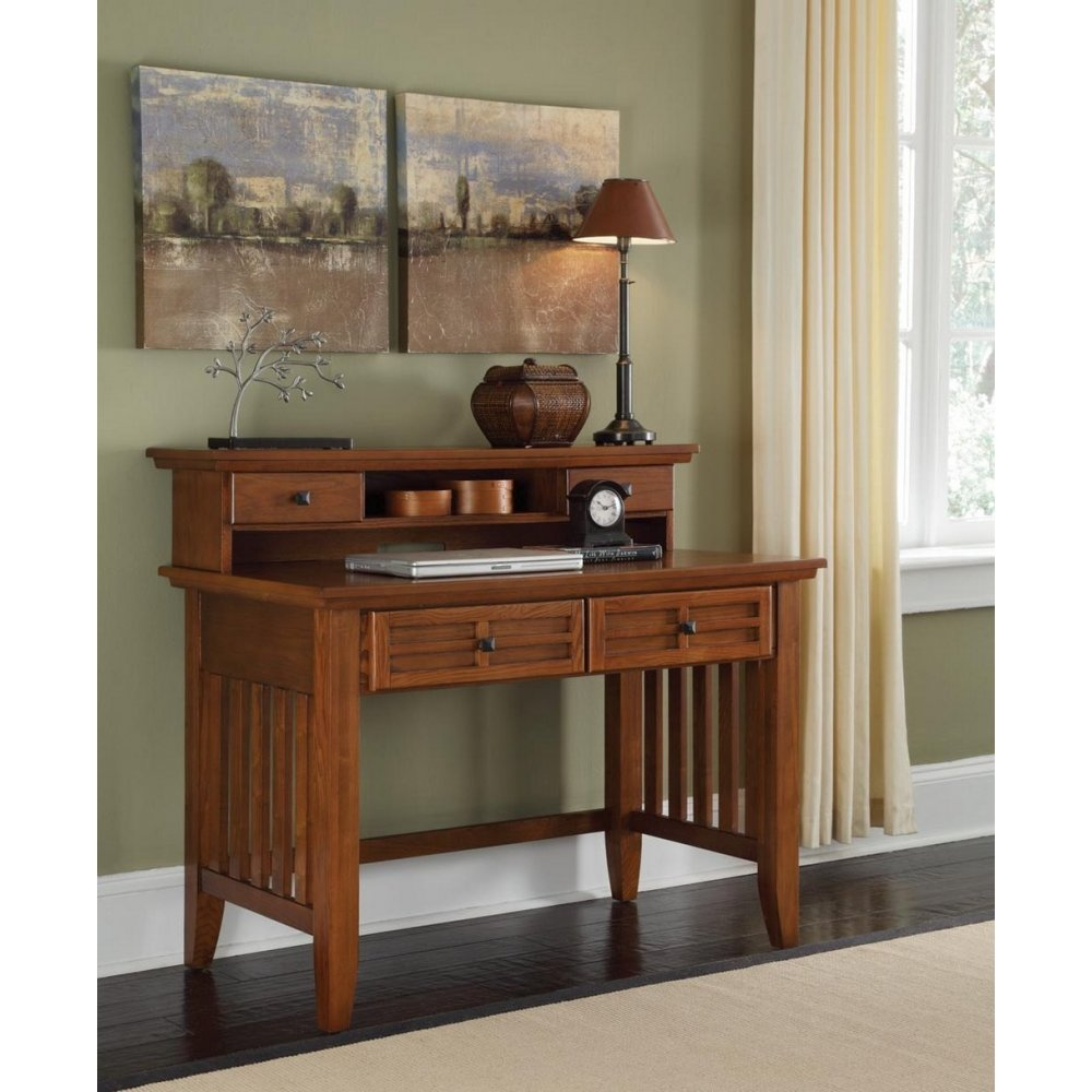 Arts and Crafts Cottage Oak Student Desk and Hutch - Homestyles Furniture 5180-162