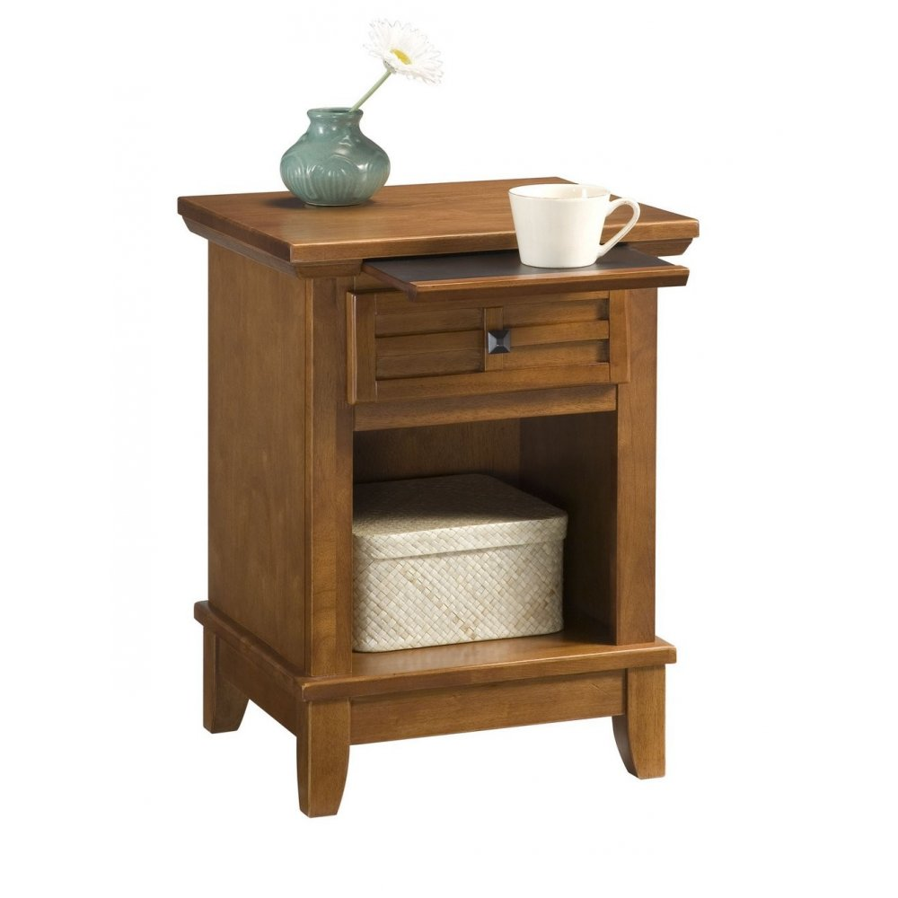 Arts and Crafts Night Stand Cottage Oak Finish - Homestyles Furniture 5180-42