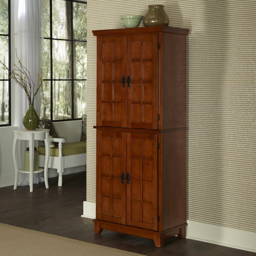 Arts & Crafts Cottage Oak Pantry - Homestyles Furniture 5180-64