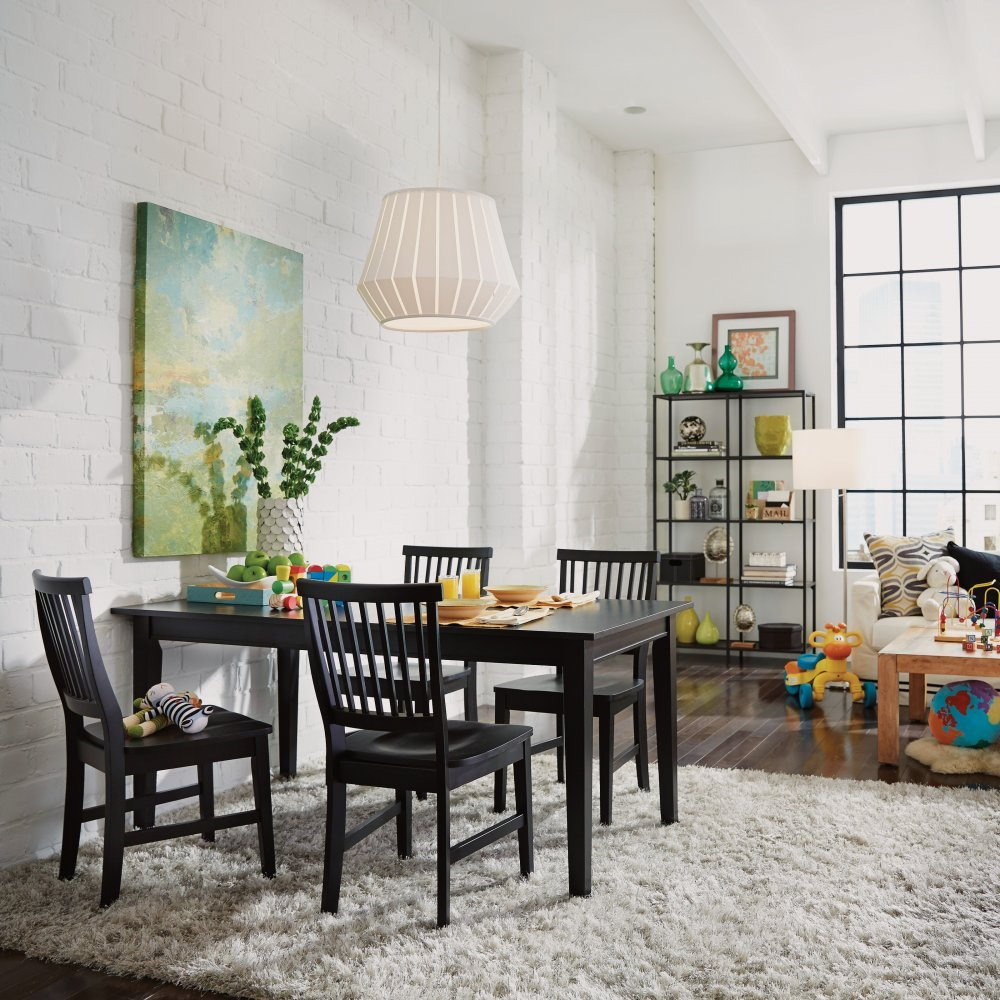 Rectangular Dining Set Black