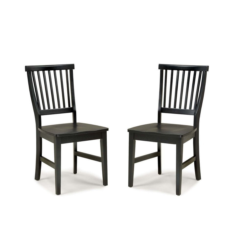Arts and Crafts Dining Chair Black Pair - Homestyles Furniture 5181-802