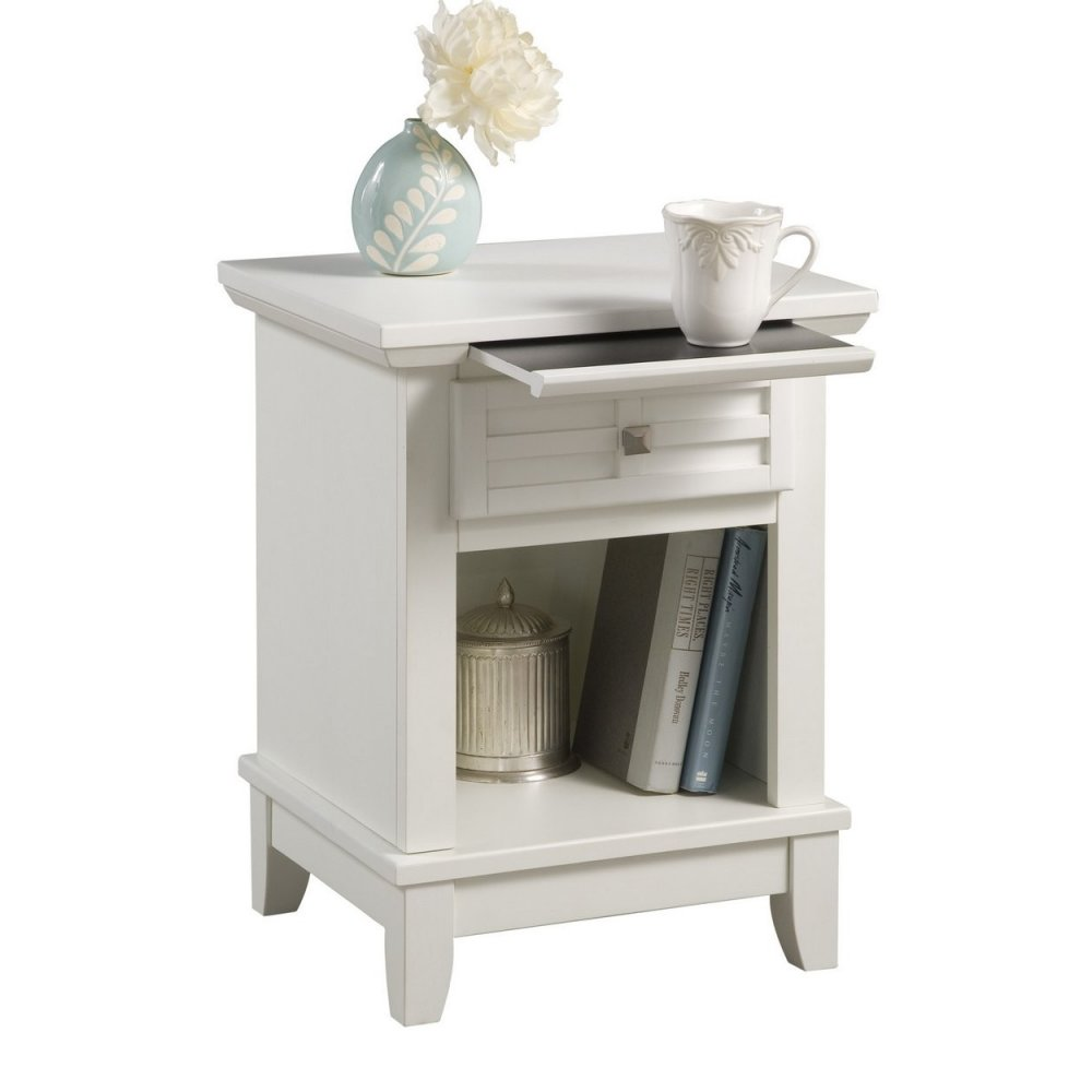 Arts and Crafts Night Stand White Finish - Homestyles Furniture 5182-42