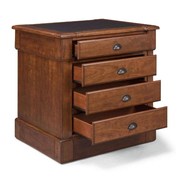Aspen Rustic Cherry Storage Island w/ 4 Drawers - Homestyles Furniture 5520-92