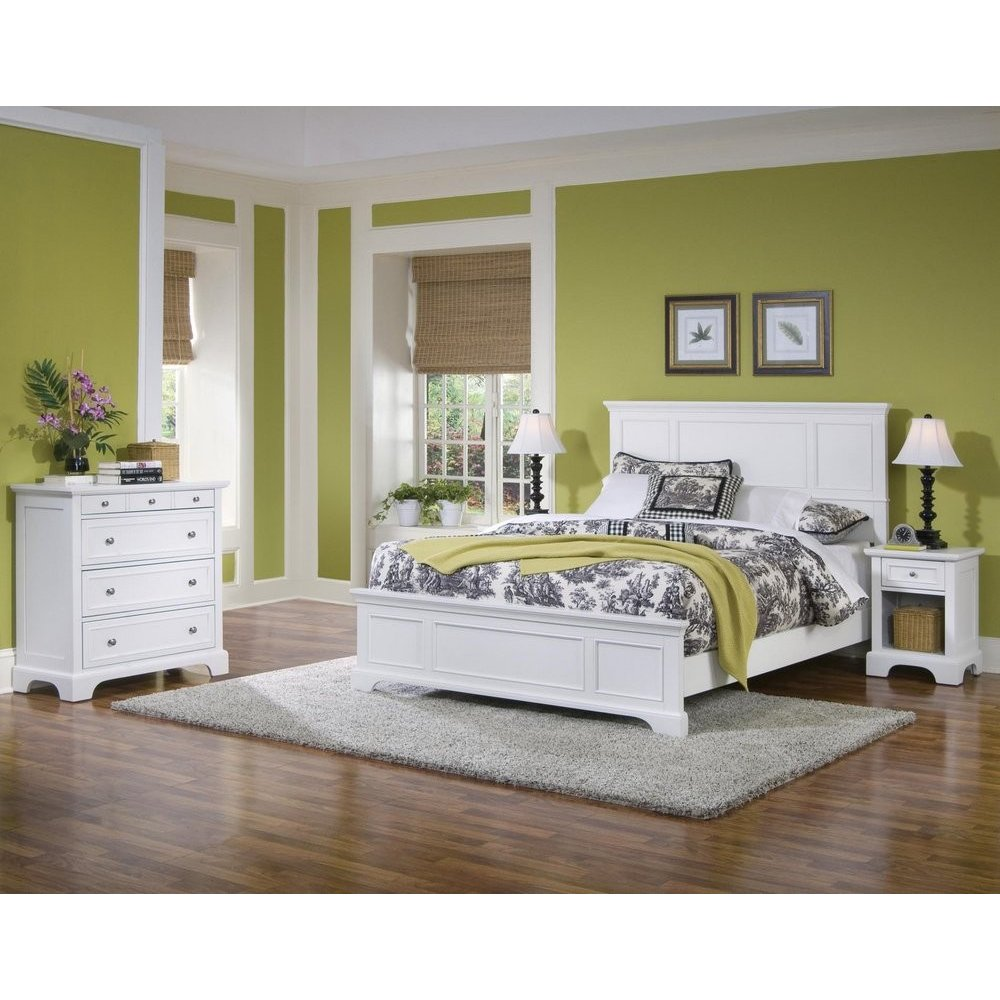 Naples White Queen Bed, Night Stand, and Chest - Homestyles Furniture 5530-5014