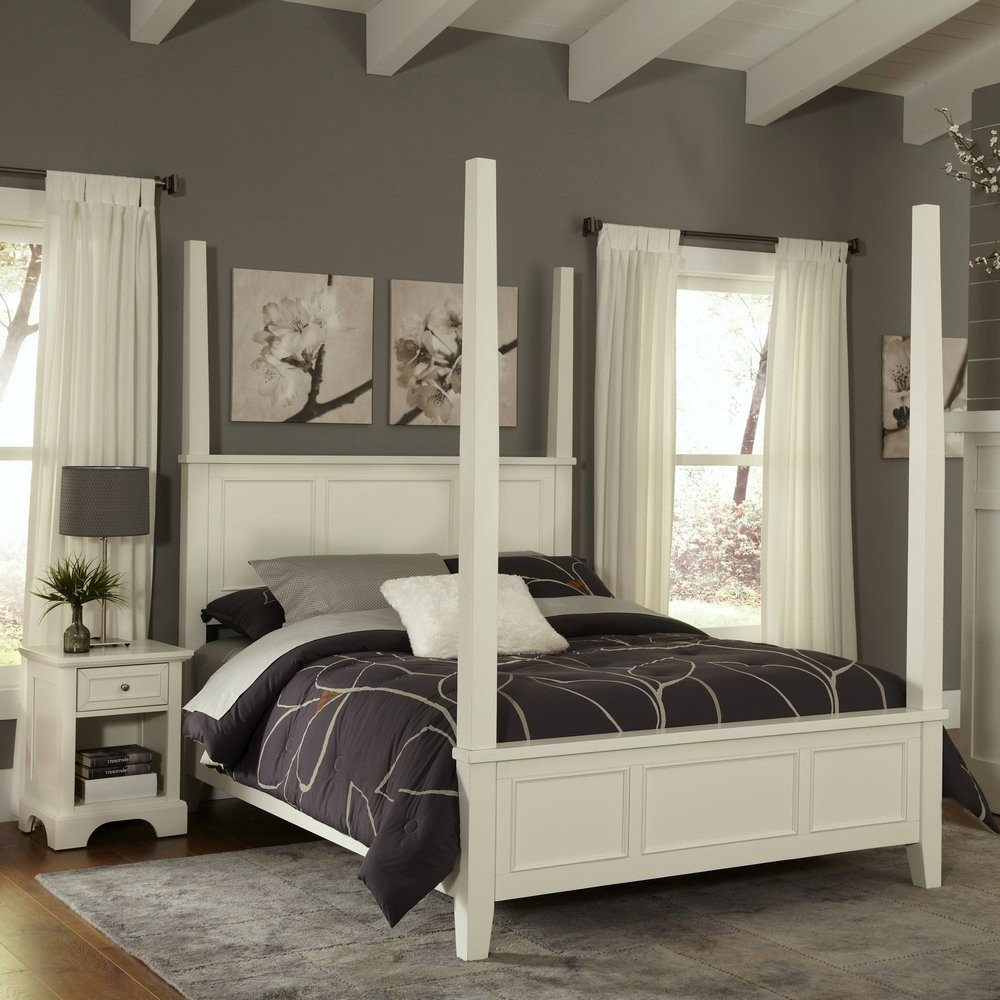 Homestyles Queen Poster Bed Nightstand
