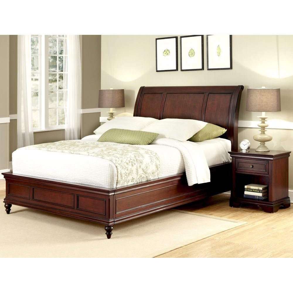 Homestyles Sleigh Bed King Nightstand
