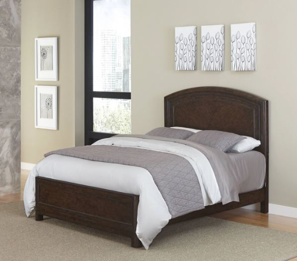 Homestyles King Leather Upholstered Bed