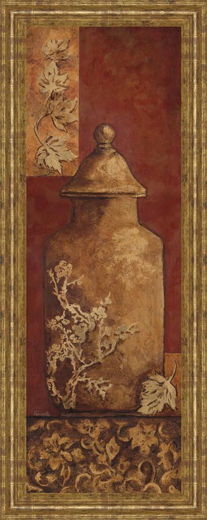 """18 in. x 42 in. """"Asian Nuvo II"""" By Angela Ferrante Print in Framed Print Wall Art - Classy Art 1034"""