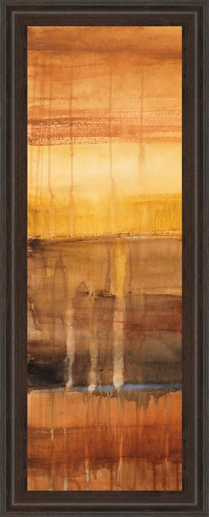 """18 in. x 42 in. """"Autumn Glows I"""" By Lanie Loreth Framed Print Wall Art - Classy Art 1252"""
