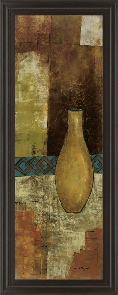 "18 in. x 42 in. ""Autumn Solitude Il"" By John Kime Framed Print Wall Art - Classy Art 1261"