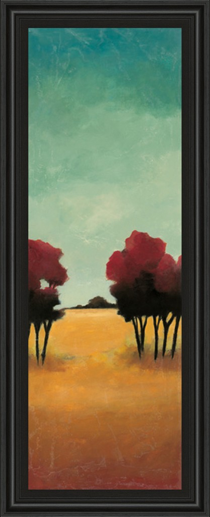 """18 in. x 42 in. """"A New Day I"""" By Angelina Emet Framed Print Wall Art - Classy Art 1385"""
