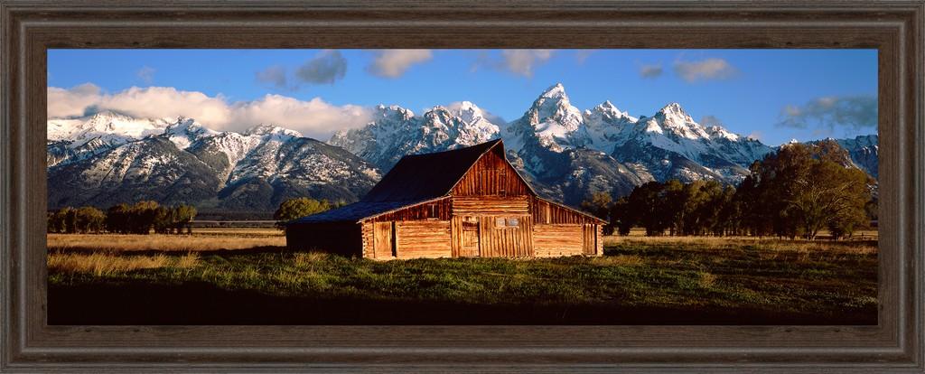 """18 in. x 42 in. """"Alma Moulton Barn"""" By Shelley Lake Photo Print Framed Wall Art - Classy Art 1459"""