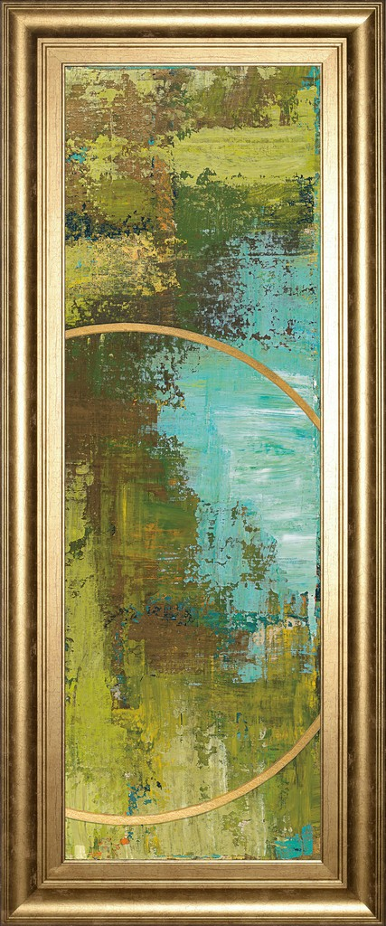 """18 in. x 42 in. """"Aller Chartreuse"""" By Patrick St. Germain Framed Print Wall Art - Classy Art 1691"""