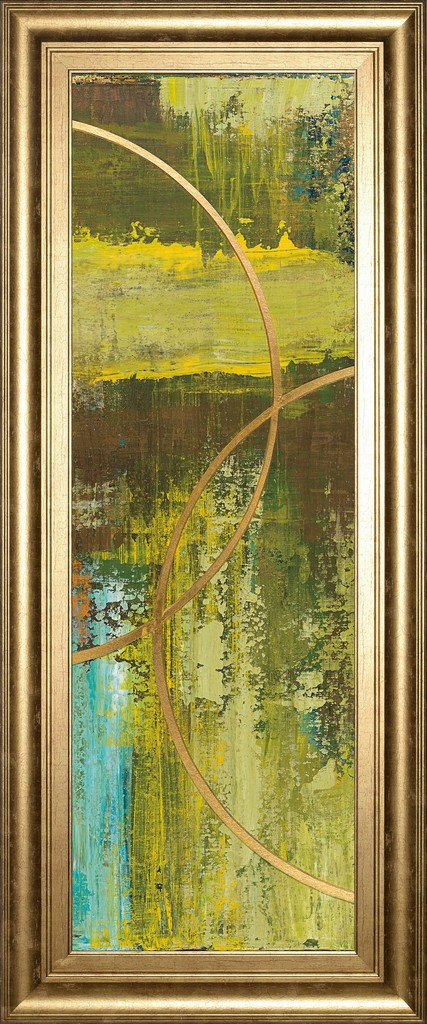 """18 in. x 42 in. """"Aller Chartreuse"""" By Patrick St. Germain Framed Print Wall Art - Classy Art 1692"""