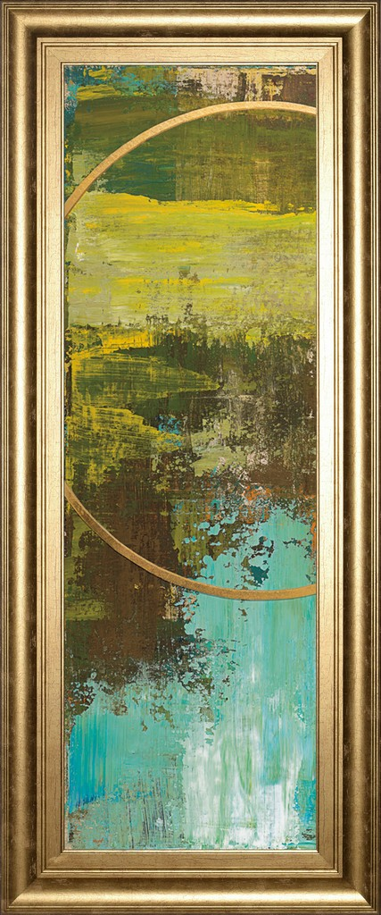 """18 in. x 42 in. """"Aller Chartreuse"""" By Patrick St. Germain Framed Print Wall Art - Classy Art 1693"""