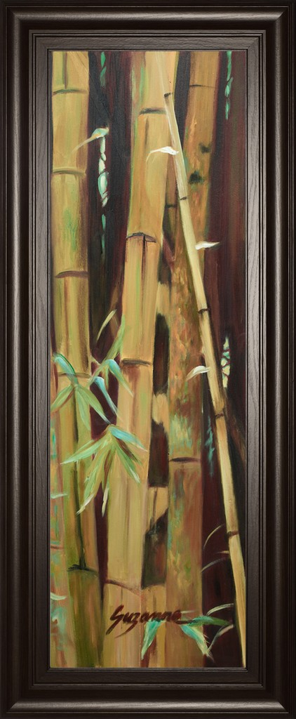 """18 in. x 42 in. """"Bamboo Finale Il"""" By Suzanne Wilkins Framed Print Wall Art - Classy Art 1769"""