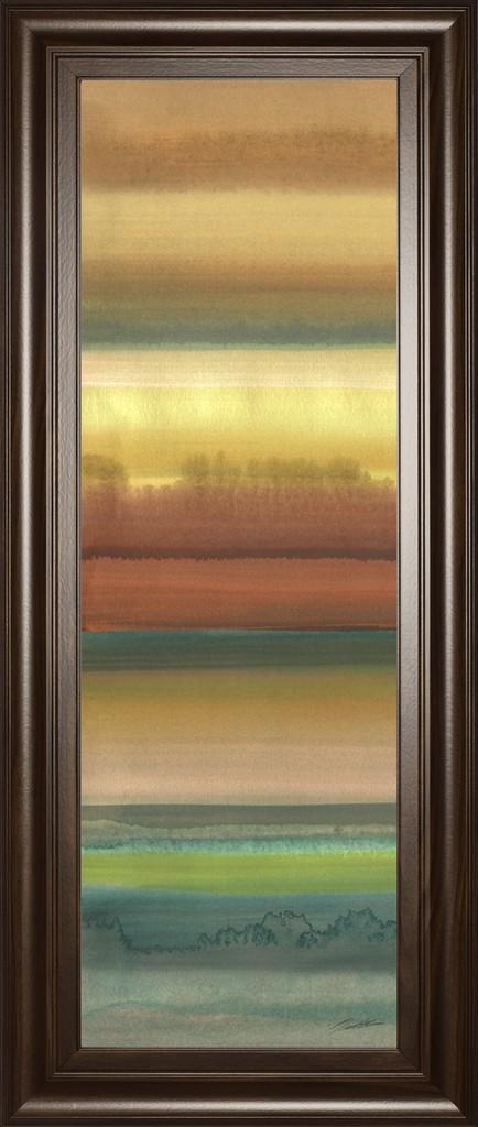 "18 in. x 42 in. ""Ambient Sky I"" By John Butler Framed Print Wall Art - Classy Art 1796"