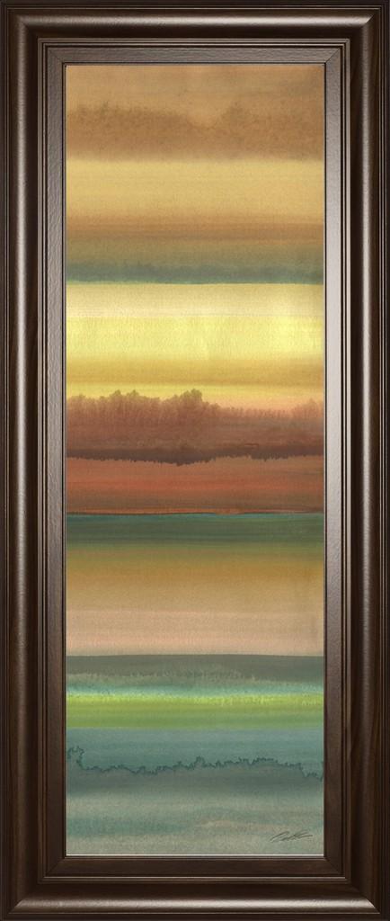 "18 in. x 42 in. ""Ambient Sky Il"" By John Butler Framed Print Wall Art - Classy Art 1797"