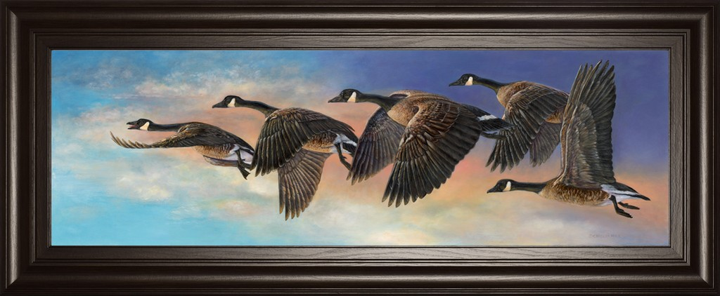 "18 in. x 42 in. ""Ascent"" By Carolyn Mock Framed Print Wall art - Classy Art 1847"