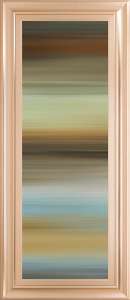 """18 in. x 42 in. """"Abstract Horizon I"""" By James Mcmaster Framed Print Wall Art - Classy Art 1855"""