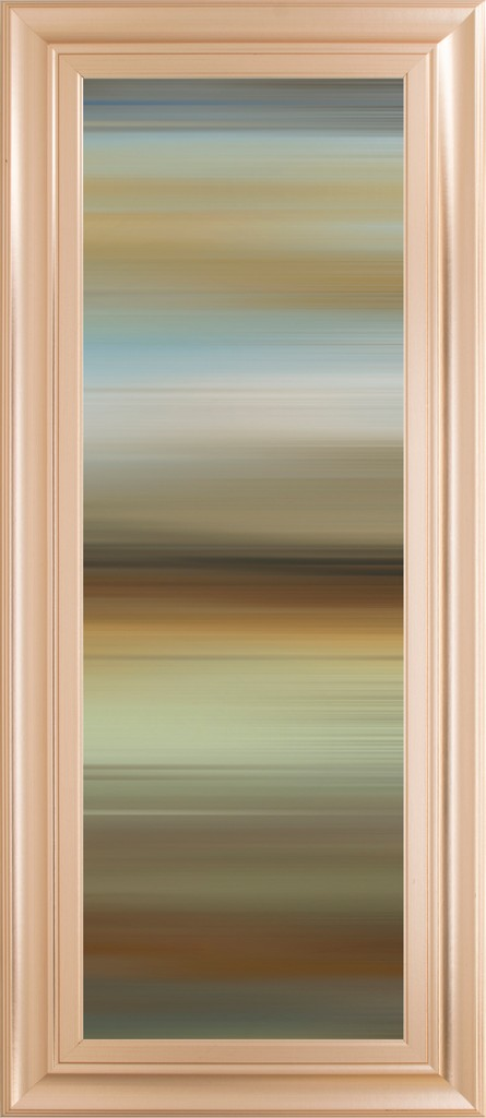 """18 in. x 42 in. """"Abstract Horizon II"""" By James Mcmaster Framed Print Wall Art - Classy Art 1856"""