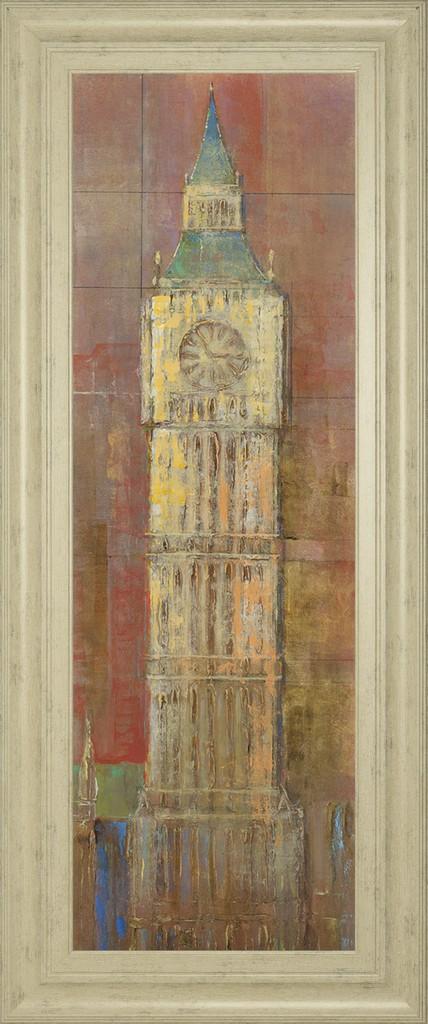 """18 in. x 42 in. """"Big Ben"""" By Longo Framed Print Wall Art - Classy Art 1982"""