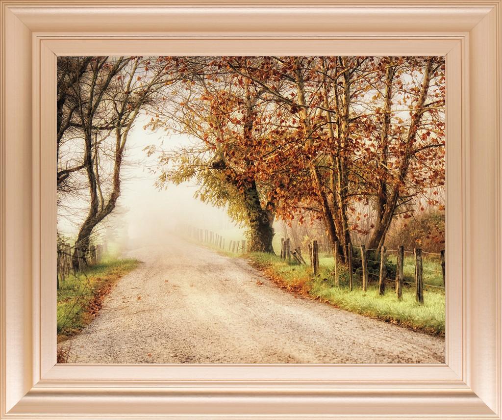 "22 in. x 26 in. ""Fog Ahead"" By D. Burt Framed Print Wall Art - Classy Art 8650"