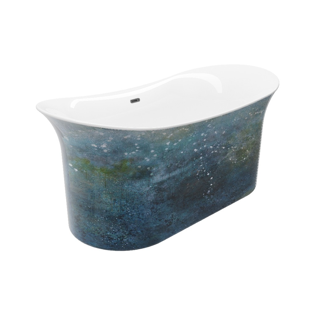 Painted Freestanding Bathtub Hand Painted