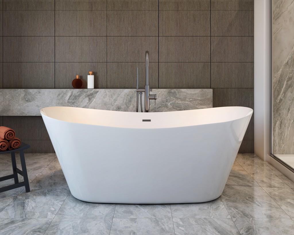 "Hazel 67"" Freestanding Bathtub with no faucet - A&E Bath and Shower BT-3001"