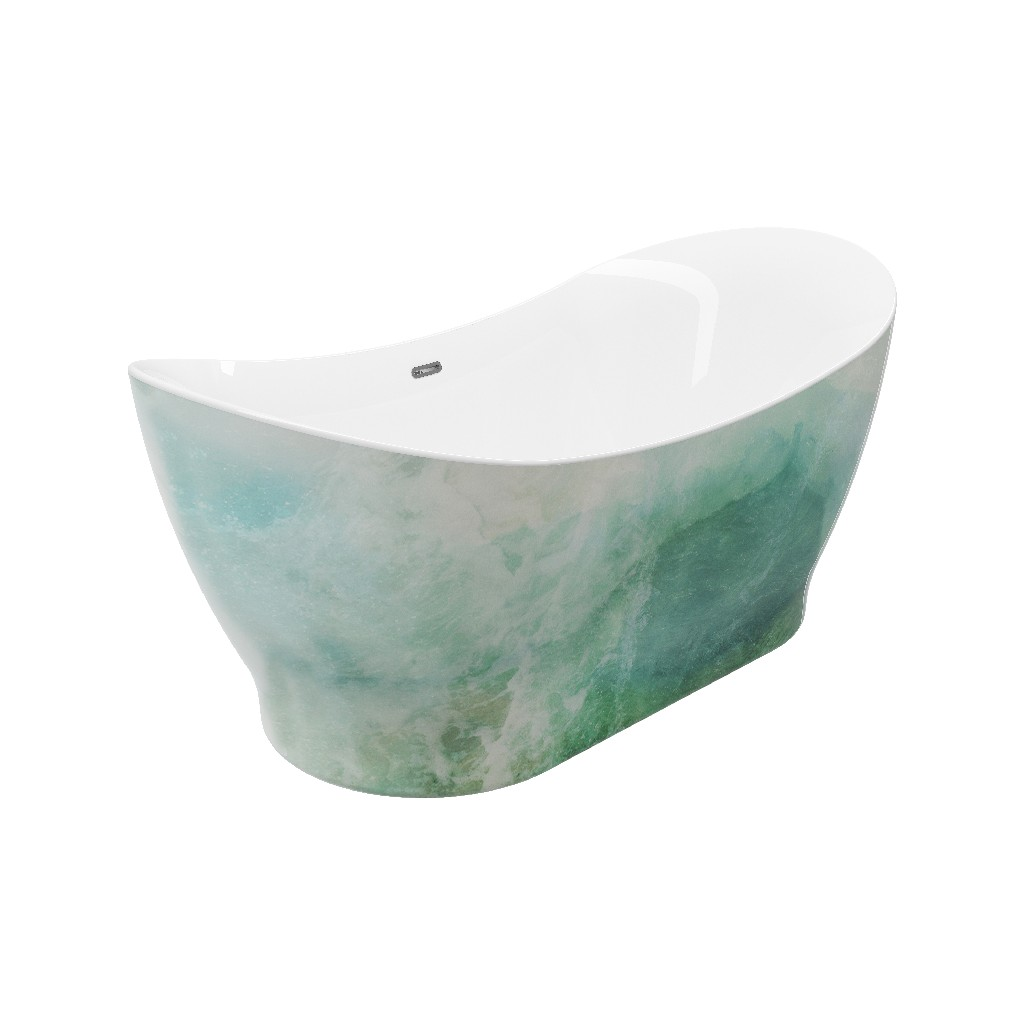 Paint Freestanding Bathtub Hand Painted